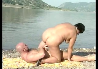 german older sex by the river
